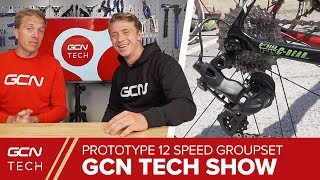 Spotted! NEW Prototype 12 Speed Electronic Groupset | GCN Tech Show Ep. 35