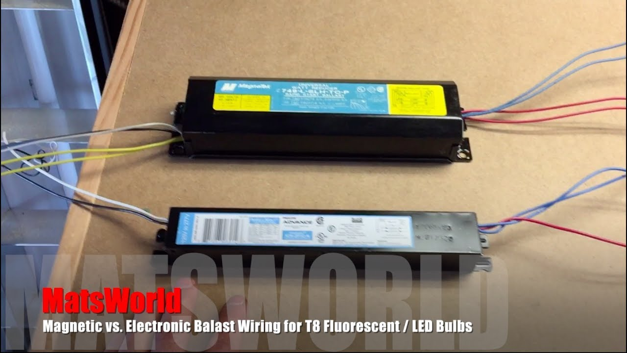 maxresdefault magnetic vs electronic balast wiring for t8 fluorescent led bulbs