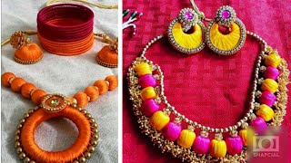 WOW !! 30 Silk Thread Jewelry Designs Images Collection || Silk Thread Bangles/Earrings/Necklace