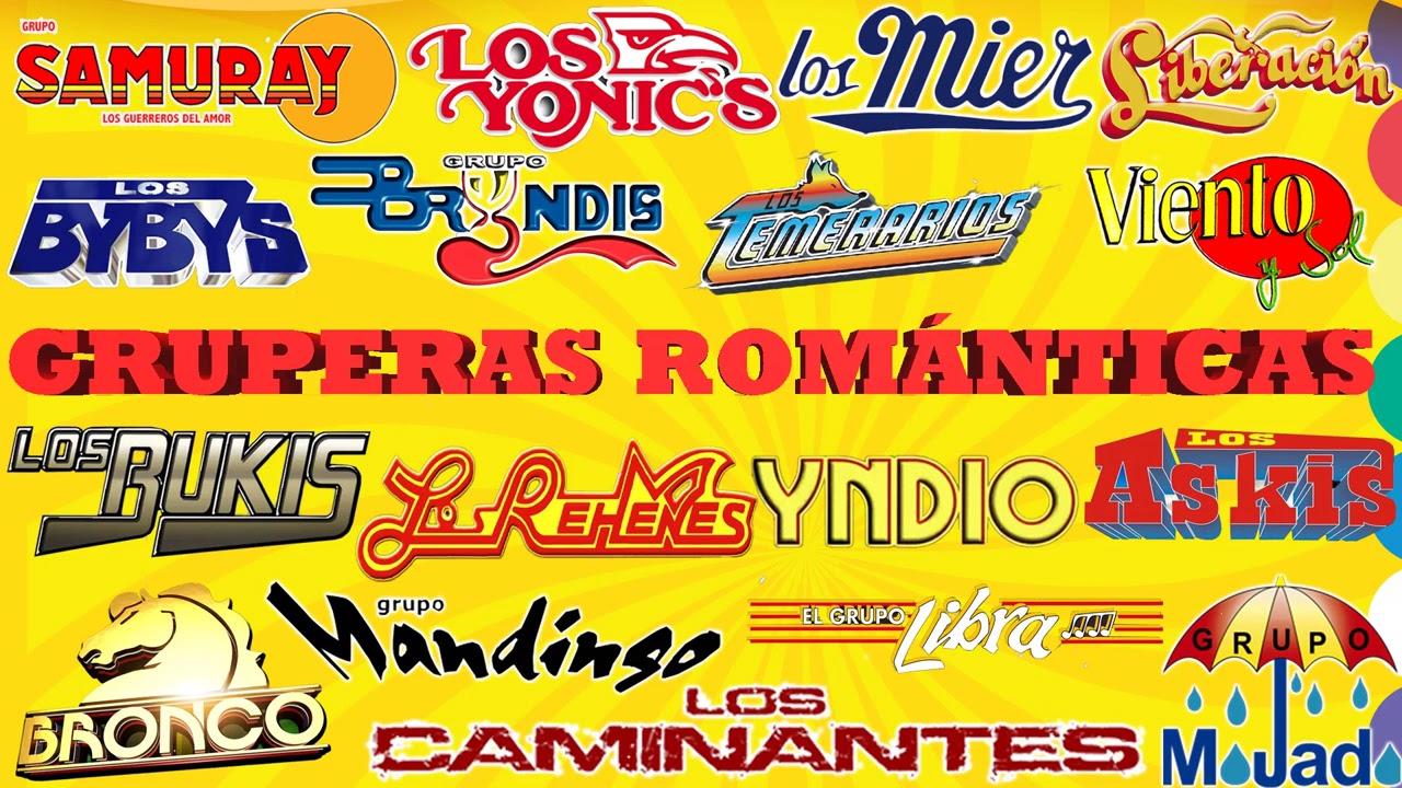 GRUPERAS ROMANTICAS DE AYER Y HOY LO MEJOR   LOS TEMERARIOS, VIENTO Y SOL, LIBERACION, LOS REHENES