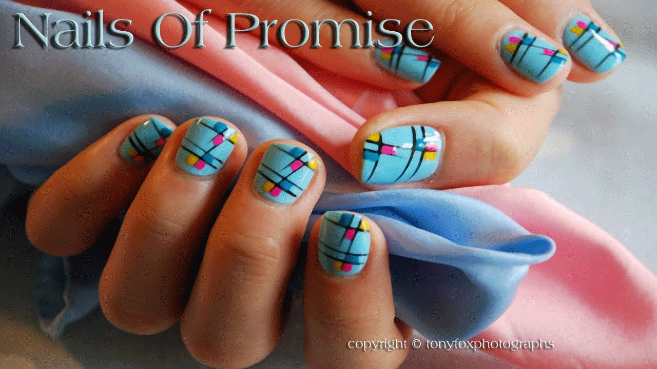 easy summer end nail art design