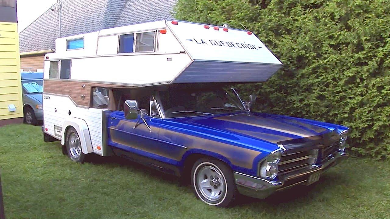 La Québécoise : a camper made with a 1965 Pontiac car