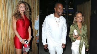Larsa Pippen Parties At Nice Guy Sporting Red Unitard And Crosses Paths With Karrueche Tran