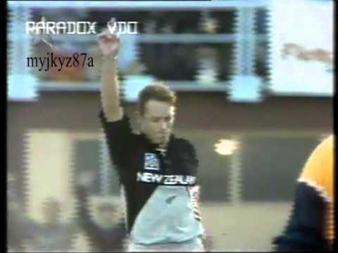 Danny Morrison ODI Hatrick vs Ind at Napier 1994
