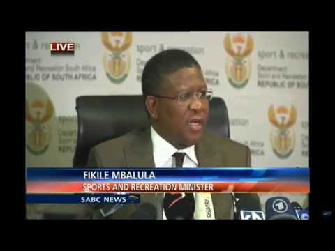 Fikile Mbalula Press conference on FIFA allegations