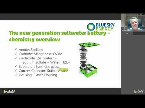 GREENROCK Webinar - New Generation Of Saltwater Batteries