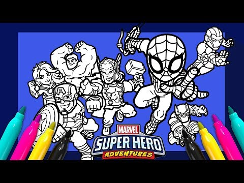 Marvel Avengers Coloring page | SUPER HERO ADVENTURES