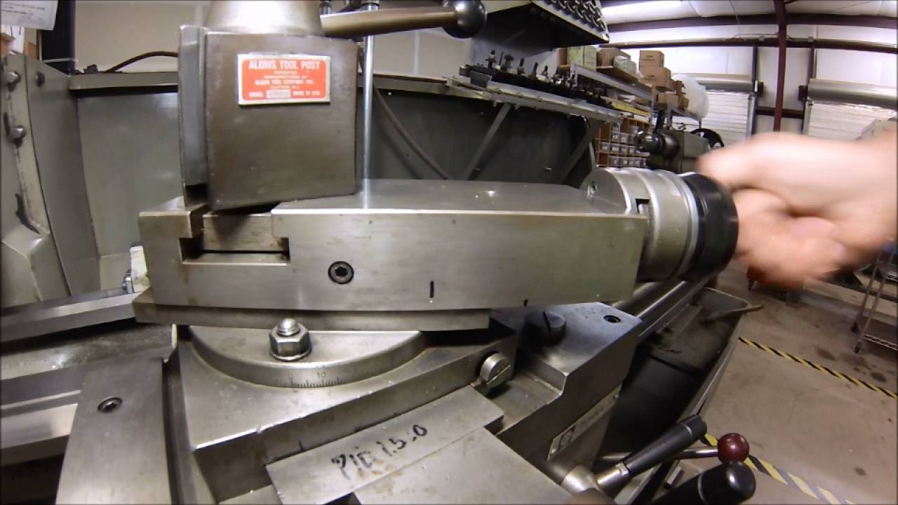 Setting The Lathe Compound To Precision Angles Youtube