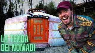 NOTTE in una TENDA MONGOLA (yurta)