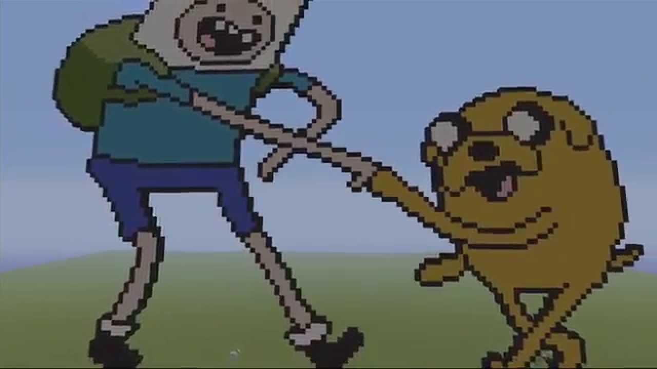 Jake Adventure Time Minecraft Grid