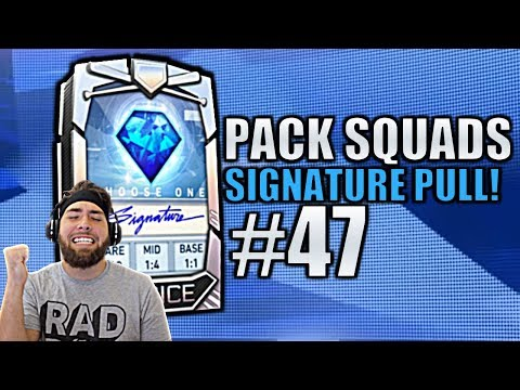 SIGNATURE CHOICE PACK AGAIN! INSANE DEBUT! Pack Squads #47 MLB The Show 19!