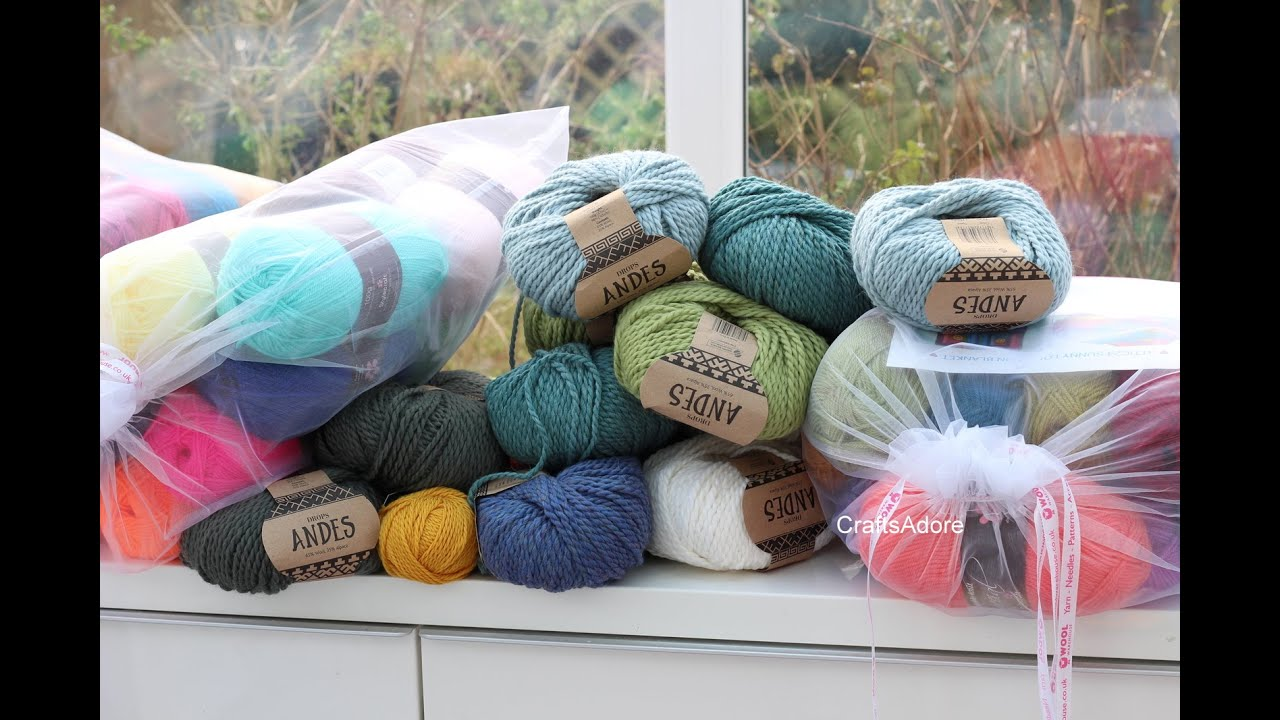 Wool Warehouse Yarn Haul - Stylecraft DK, TOFT, Drops Andes, Attic24 Sunny  Pack - February 2016