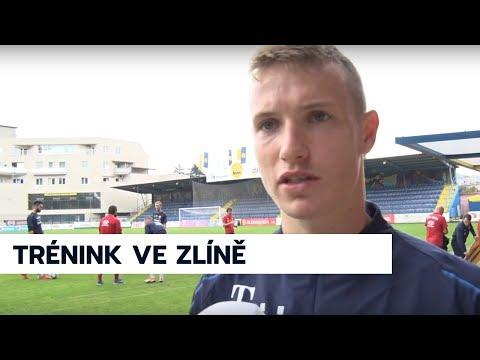 Trénink české reprezentace ve Zlíně 8. 9. 2018
