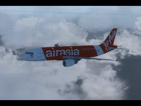 AIR ASIA Flight QZ 8501 // FSX Reconstruction 0.1 // Landed Airbus on the watter?