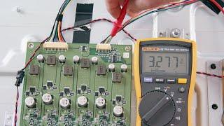 Vizio D650I-B2 LED TV No Backlights - Voltage Test Troubleshoot LEDs & Power Supply & LED Driver