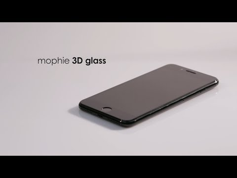 mophie 3D glass installation