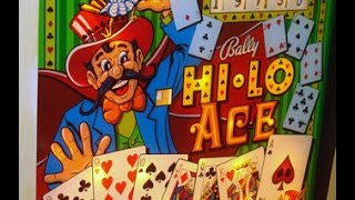 "1973 Bally ""Hi Lo Ace"" Pinball Machine In Action"