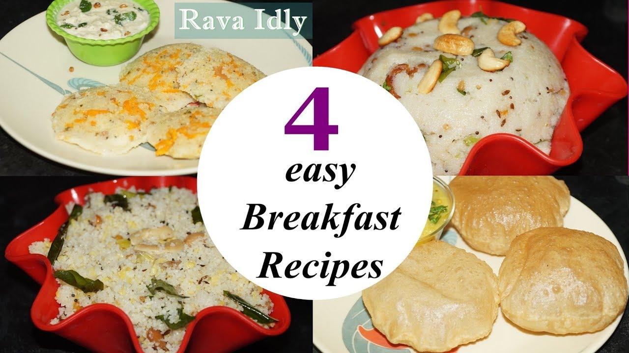 4 easy Break fast recipes in telugu by Amma Kitchen- Latest Indian ...