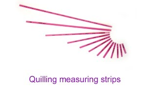 Quilling Tool - Quilling maesuring stirps