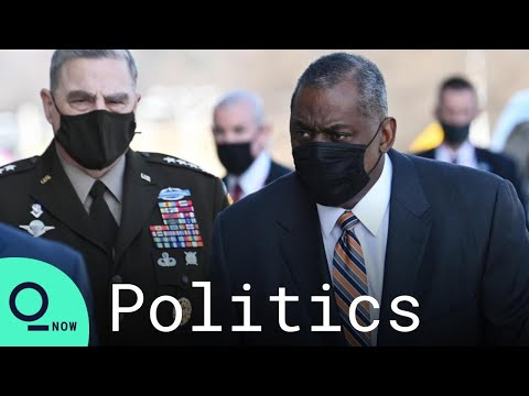 Newly Confirmed Secretary of Defense Lloyd Austin Arrives at Pentagon - Bloomberg Quicktake: Now