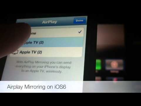 iPhone 5 Airplay Mirroring