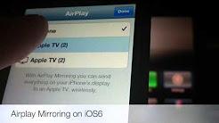 iPhone 5 Airplay Mirroring
