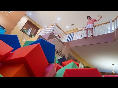 CRAZY INDOOR FOAM PIT!! (BROKE MY FOOT) | FaZe Rug