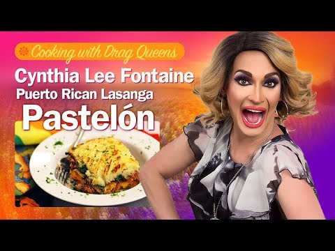 Cooking with Drag Queens - Cynthia Lee Fontaine - Pastelón