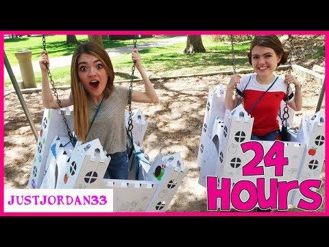 24 Hours In Castle Box Fort / JustJordan33