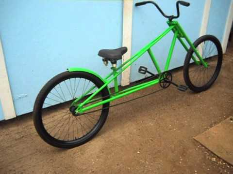 Chopper Bicycle with motorcycle type front forks. - YouTube