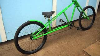 Chopper Bicycle with motorcycle type front forks.