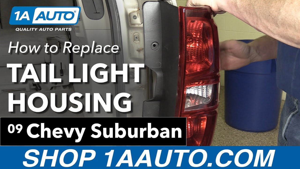 How To Replace Tail Light Housing 07 14 Chevy Suburban Youtube Gm Brake Wiring