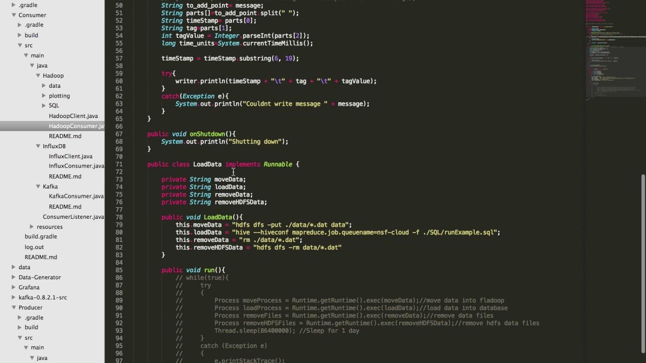 Cloud - Kafka for InfluxDB and Hadoop