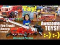 Children's Toy Cars and Toy Trucks: Kids' Fire Truck Playset and SWAT Police Toy Car Unboxing