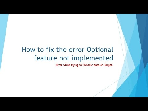 How to fix [Informatica][ODBC Oracle Wire Protocol Driver] Optional feature not implemented.