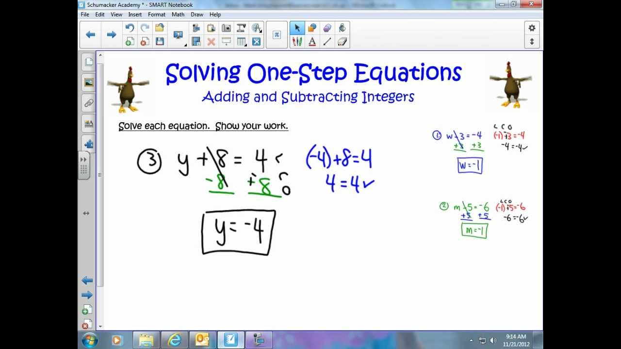 how to add integers step by step