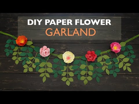 DIY Paper Flower Garland | Cameo | Cricut