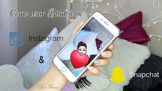 Nuestro avatar en Instagram y Snapchat ! Bitmoji 🤳