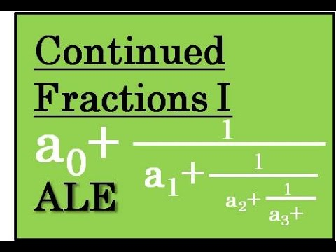 Continued Fraction Expansions, Part I: Introduction