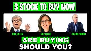 Cathie Wood, Ray Dalio, Aฑd Bill Gates BUYING THESE 3 STOCKS IN 2021 (BEST STOCKS TO BUY NOW 2021)