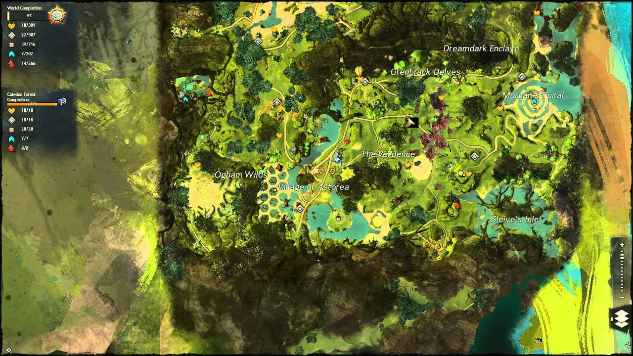 Caledon Forest Map Guild Wars 2   Caledon Forest   100% Completion   YouTube