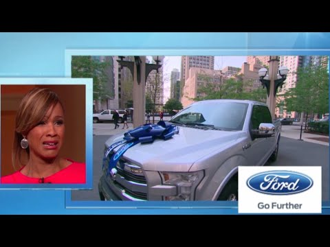 Single-mom entrepreneur spins away in a new Ford F-150! || STEVE HARVEY