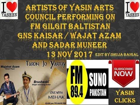YASIN ARTS COUNCIL FIRST PERFORM AT FM 89.4  GNS KAISAR WAJAHAT AZAM AND SADAR MUNEER   yasin clicks