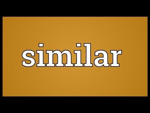 Similar Meaning