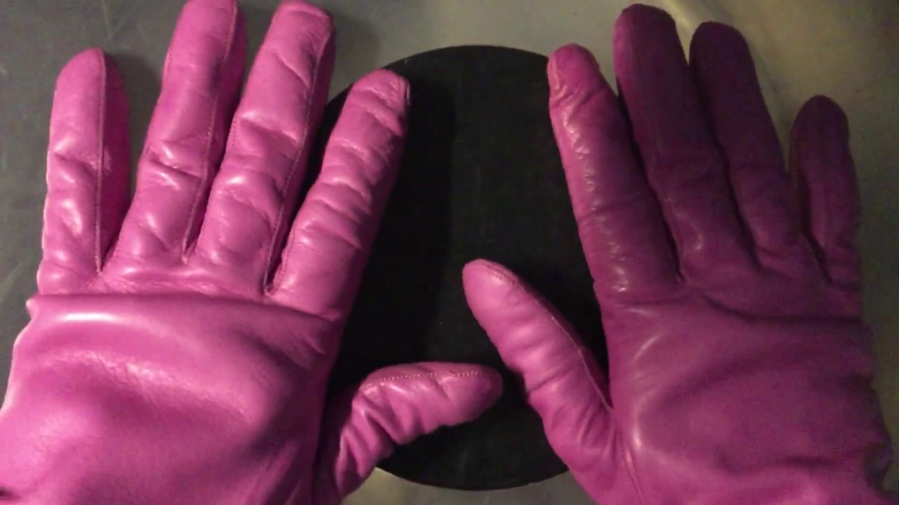 LEATHER GLOVES 💕 TAPPING 🎧  [[ASMR]]