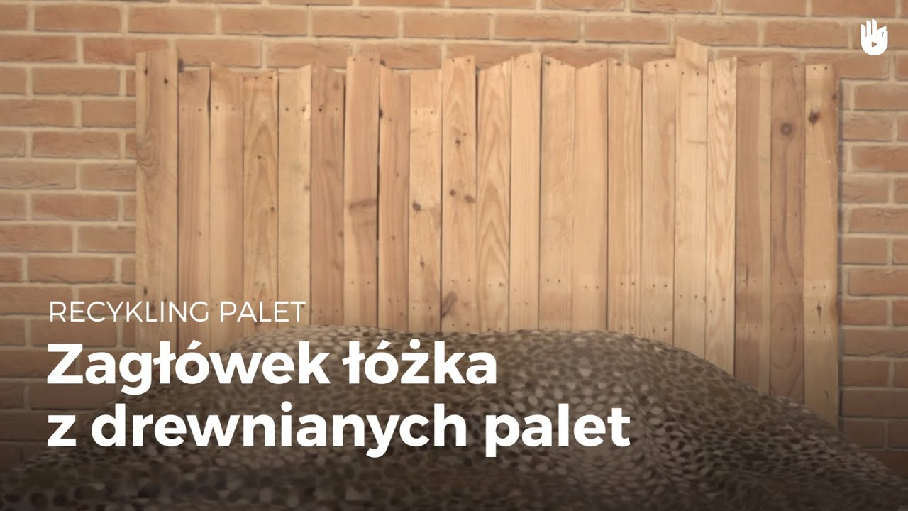Zagłówek łóżka Z Drewnianych Palet Recykling Palet