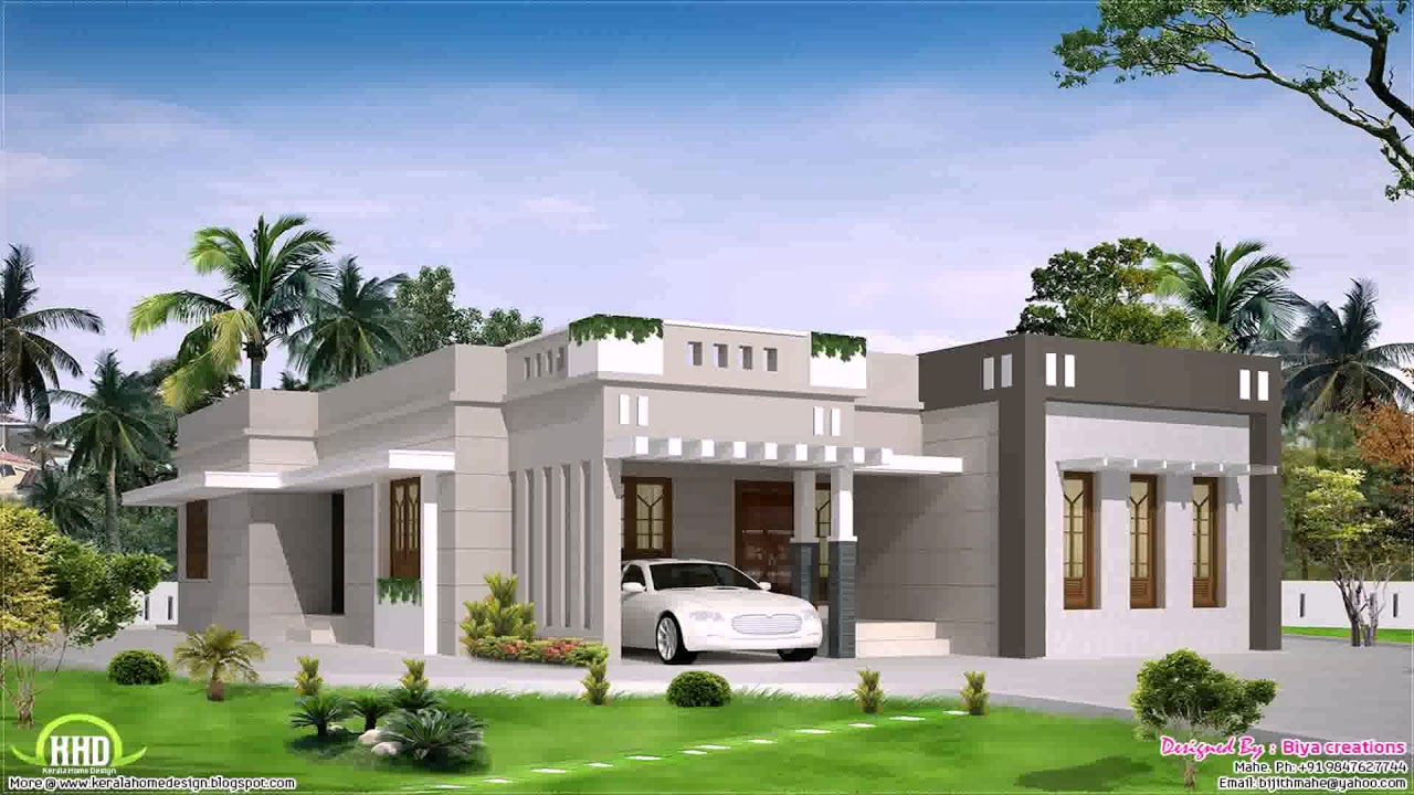 Kerala home design single floor plan youtube for Kerala style single storey house plans