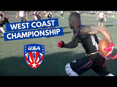BEST FLAG FOOTBALL PLAYS - West Coast Flag Football Championship 8v8 Tournament Highlights Bay Area