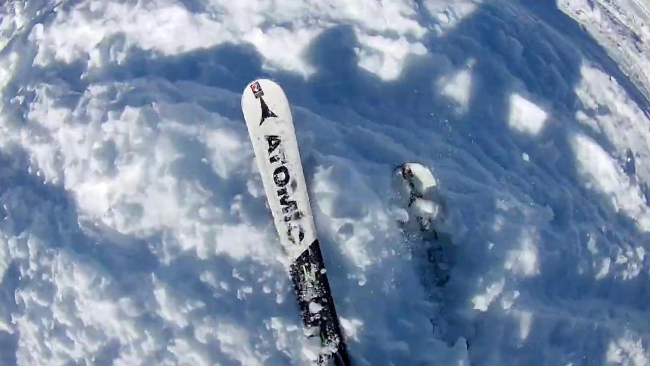 Valmorel 2020 - Noire du Mottet en ski / Freeride du Mottet / Piste Noire