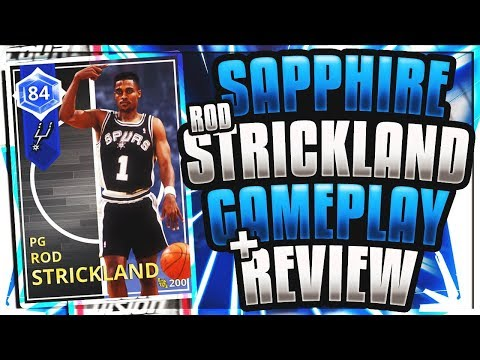 NBA 2K18 SAPPHIRE ROD STRICKLAND GAMEPLAY AND REVIEW! CRAZY UNDERRATED POINT GUARD! NBA 2K18 MYTEAM!